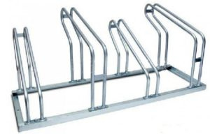 Traditional single decker bicycle rack